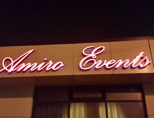 Litere volumetrice plexiglass si profil PVC iluminate LED, AMIRO EVENTS